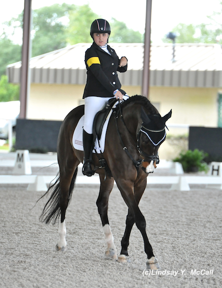 Sydney Collier (USA) Grade Ib and NTEC Cuplee, owned byPatricia Mendenhall. Photo by Lindsay McCall