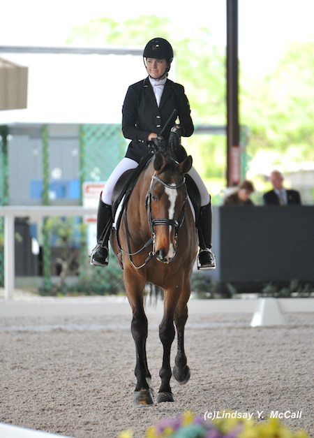 Angela Peavy (USA) Grade III after their ride. Photo by Lindsay McCall