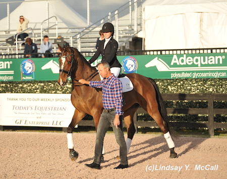 Angelea Peavt (USA) Grade III at the Para-Dressage preview. Photo by Lindsay McCall
