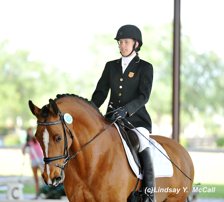 Rebecca Hart (USA) Grade II and Schroeters Romani finishing a walk movement. Photo by Lindsay McCall
