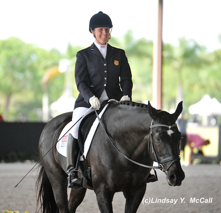 Mary Jordan (USA) Grade IV and Sebastian after their ride. Photo by Lindsay McCall