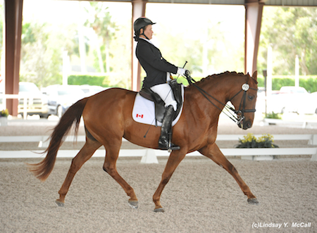 Lauren Barwick (CAN) Grade II and Off To Paris, owned byEquine Canada. Photo by Lindsay McCall