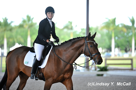Angela Peavy (USA) Grade III and Ozzy Cooper after their ride. Photo by Lindsay McCall