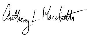 Anthony's signature