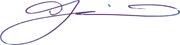 TJ signature