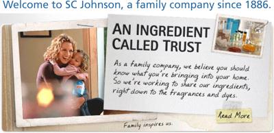 SC Johnson banner