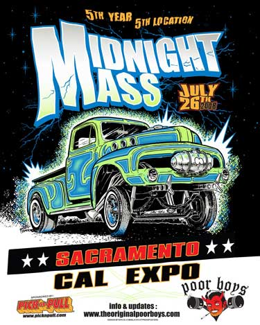 This years midnight mass will be held at the cal expo fairgrounds it