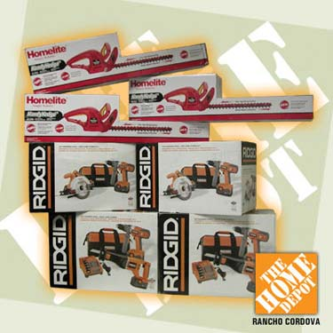 We have more Homelite and Ridgid P-O-W-E-R TOOLS from the Rancho Cordova  Home Depot to give away Friday Night! 7ea63ee8fb83