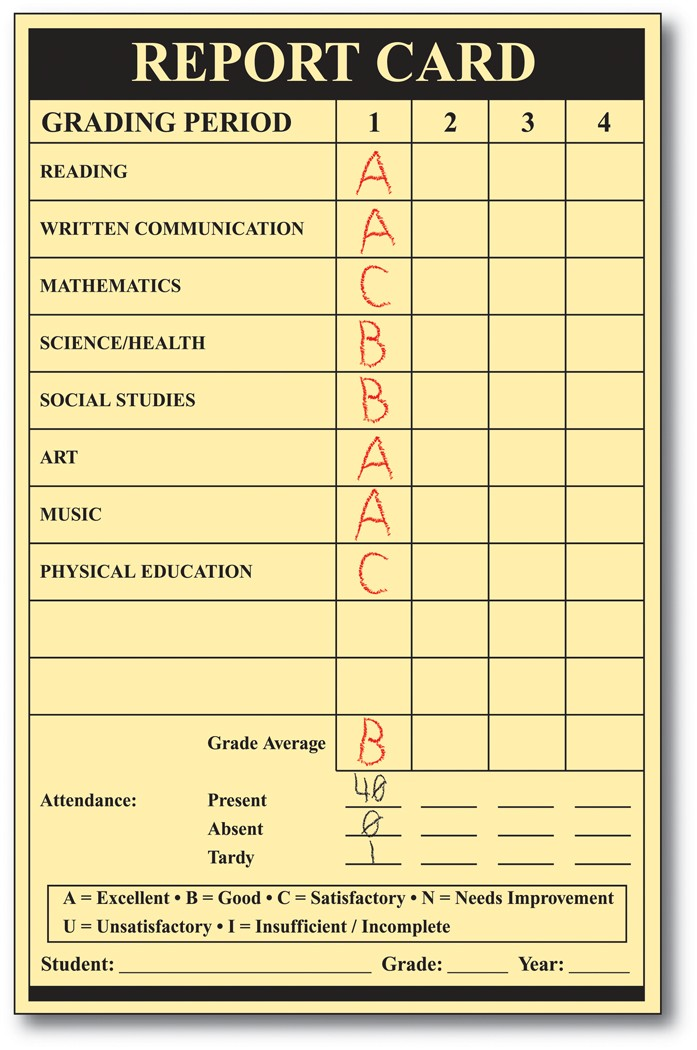 Report Card Pic