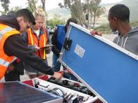 Solar Cup volunteer Abby Korth '13