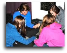 Girls Praying