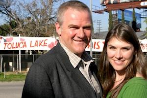 Stephen Box and his wife Enci in Toluca Lake