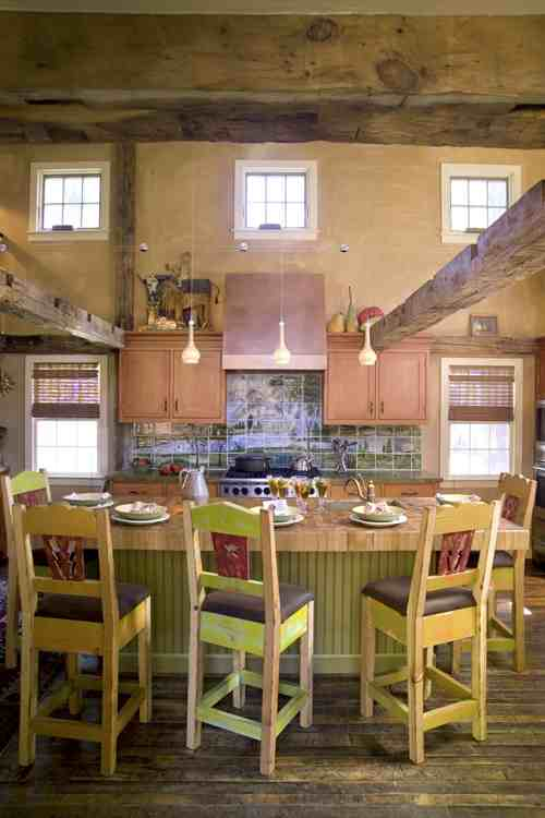 mod colonial kitchen