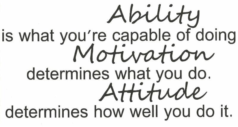 Ability, Attitude, Motivation