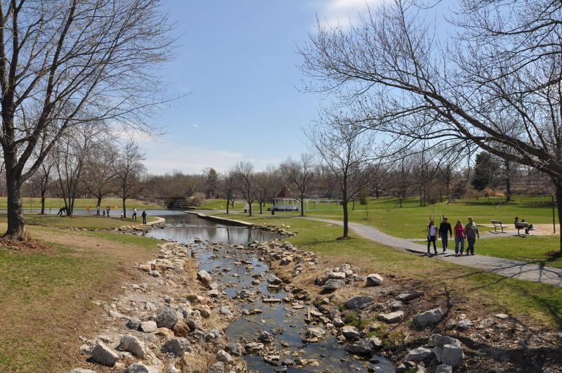 Walking trail at Rotary Park