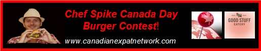 Chef Spike's Canada Day Burger Contest