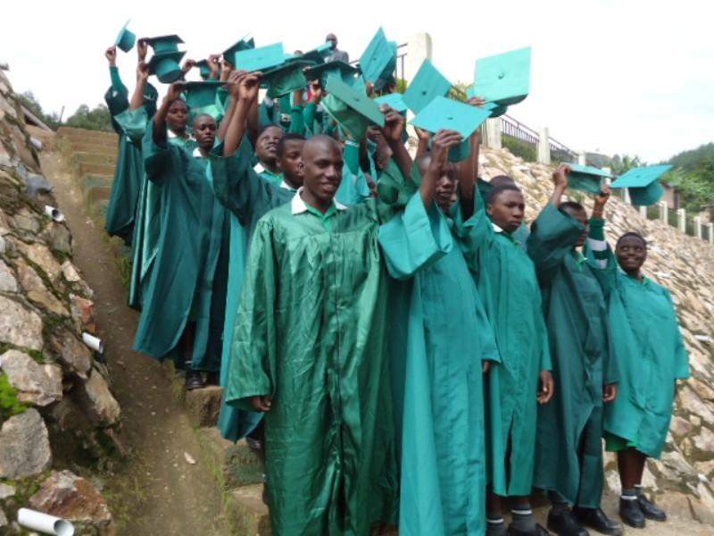 Kutamba Grads Lined Up