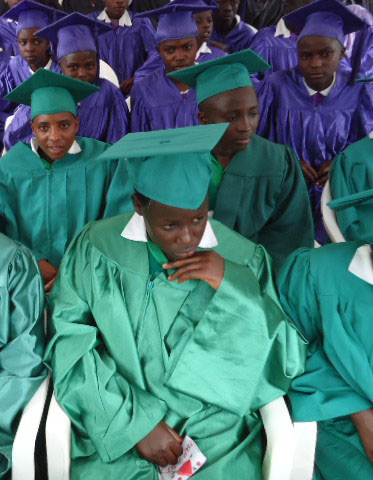 Graduates Waiting to Be Called Up