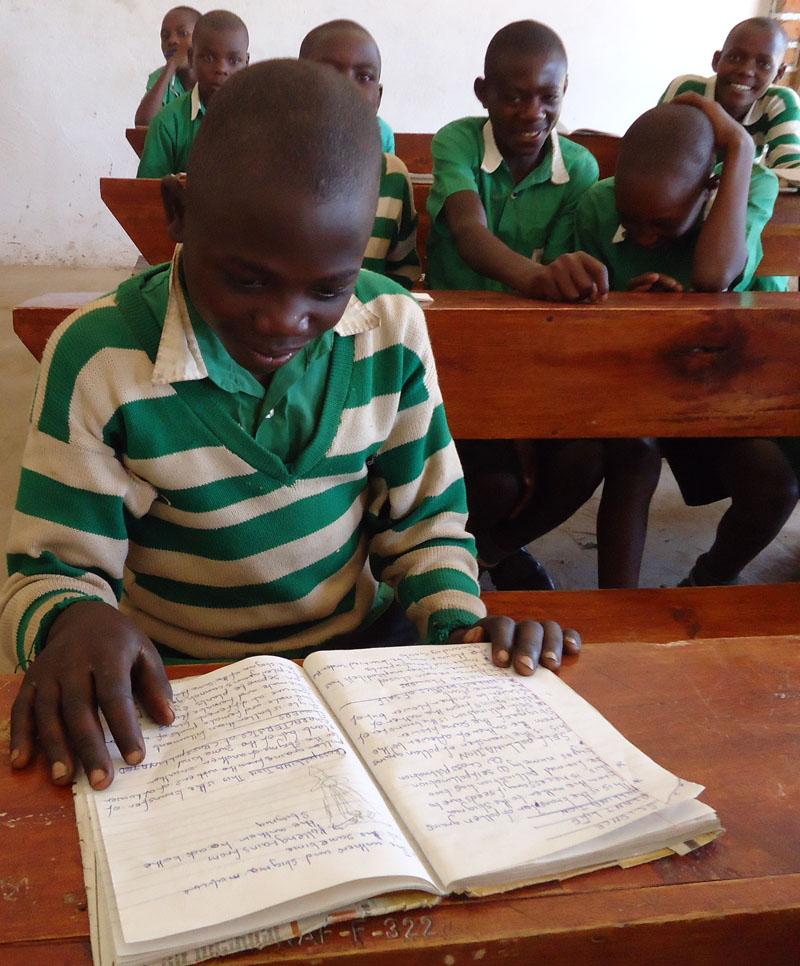 Kutamba Student Hilary Studying