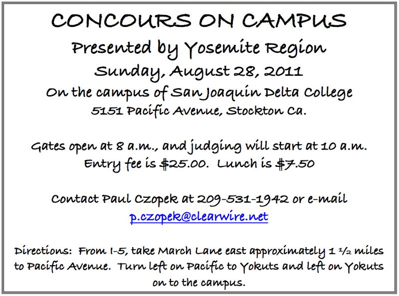 yosemite region concours flyer