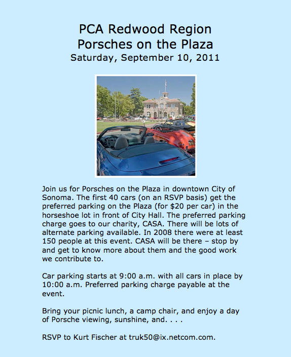 2011 porsches on the plaza flyer