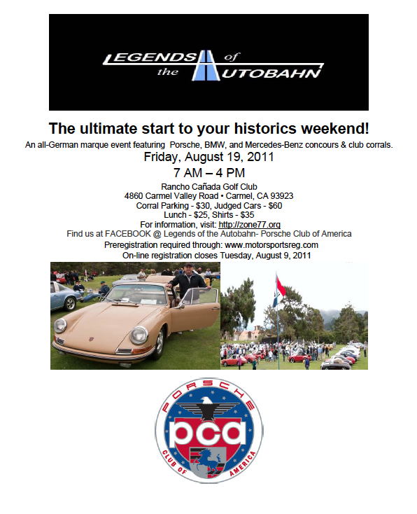 legends of the autobahn flyer