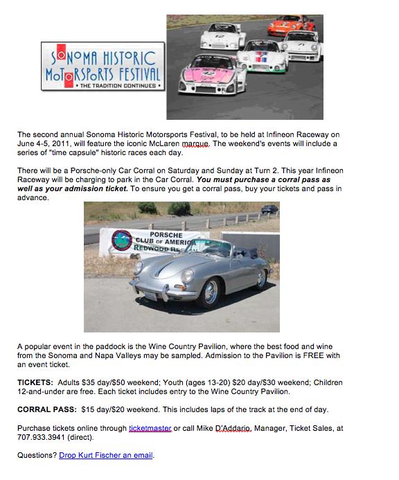 Sonoma Historics Flyer