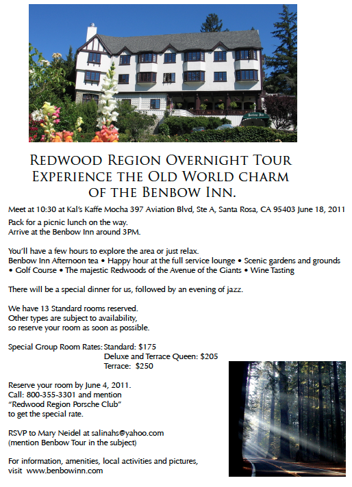 RR Benbow Tour Flyer