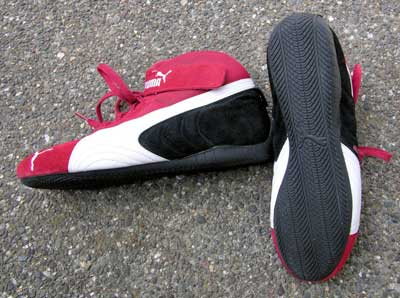 Red Puma Driving Shoes