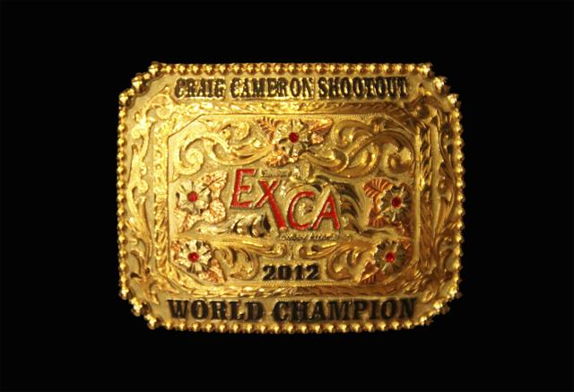 World 2012 Shoot Out Buckle