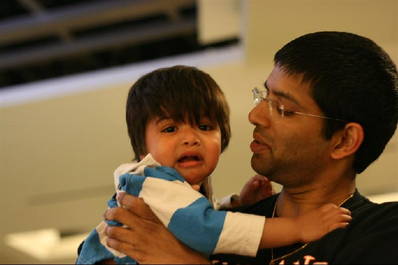 father and crying child