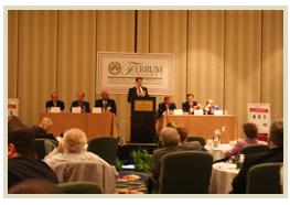 Podium at the Forum