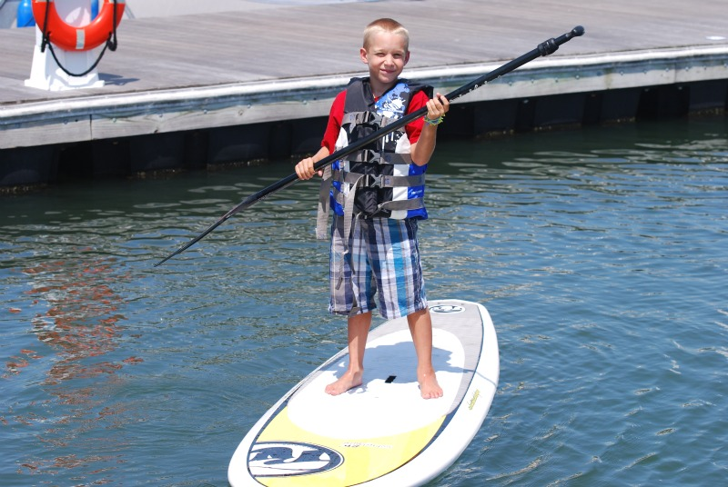 Kid on SUP