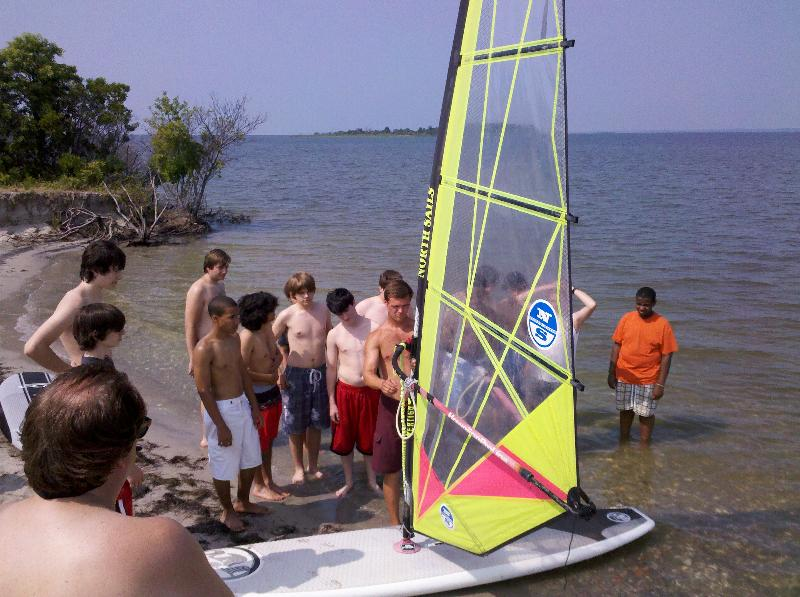 Windsurfing Lesson Boy Scouts