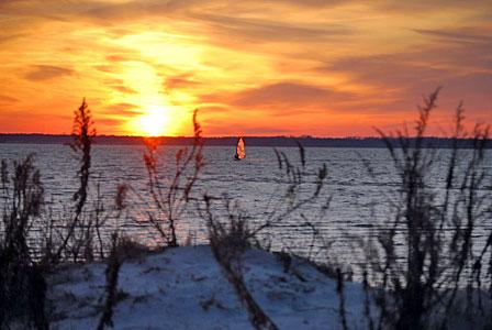 Windsurfing Dewey Sunset