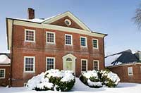 montpelier mansion covered in snow