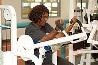senior lifting weights