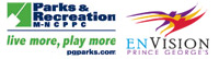 parks and recreation and envision logo