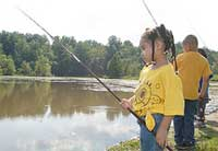 youths fishing