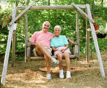 seniors on a swing