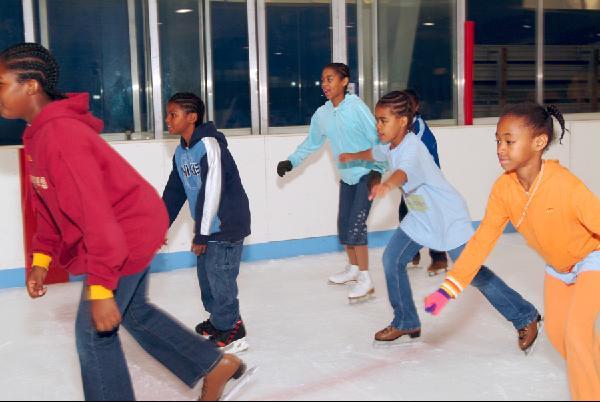 ice skating group