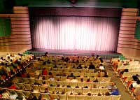 curtained stage