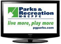 pg parks logo on tv