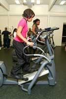 teen girl on elliptical