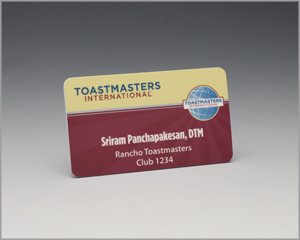 Leaders and lecterns newsletter march 2012 for Toastmasters business cards