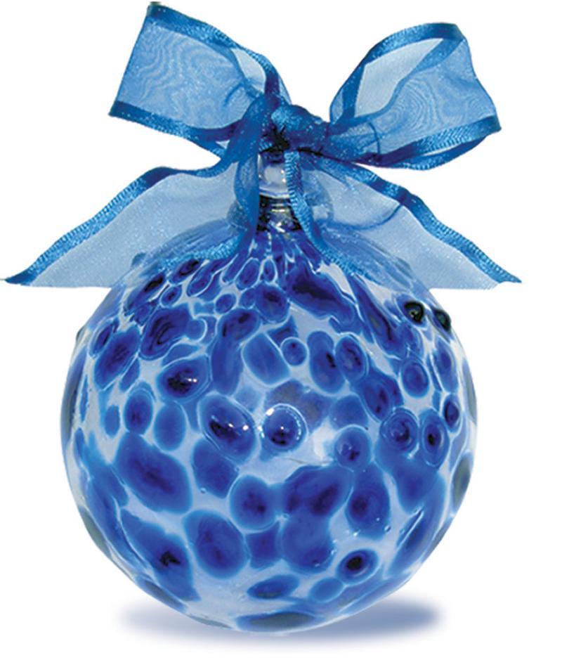 Blue Dot Ornament