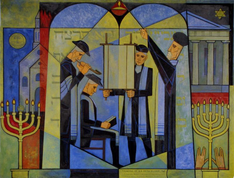 Mural of KKBE founding