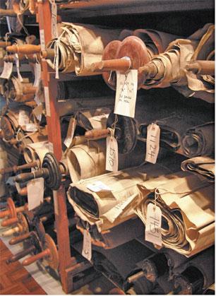 Czech Museum scrolls