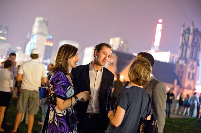 Rooftop social event