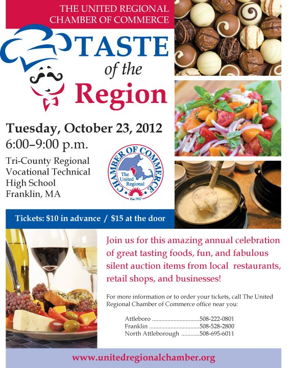 Taste of the Region large flyer